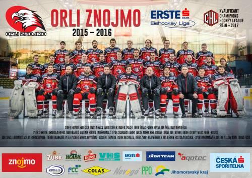 Týmový plakát Orli Znojmo 2015/2016