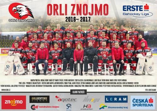 Týmový plakát Orli Znojmo 2016/2017