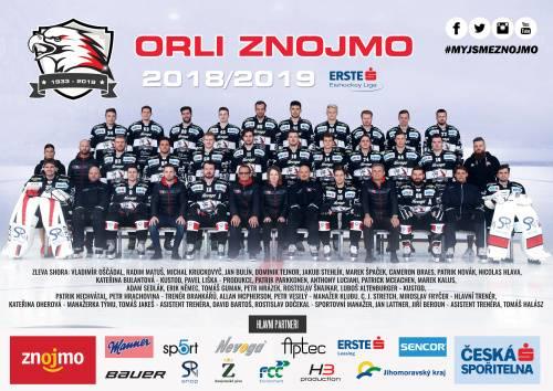 Týmový plakát Orli Znojmo 2018/2019
