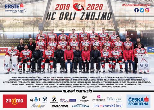 Týmový plakát Orli Znojmo 2019/2020