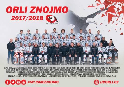 Týmový plakát Orli Znojmo 2017/2018